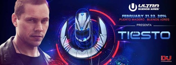 Tiesto 2014-02-22 Ultra Buenos Aires (Buenos Aires, AG) Banner