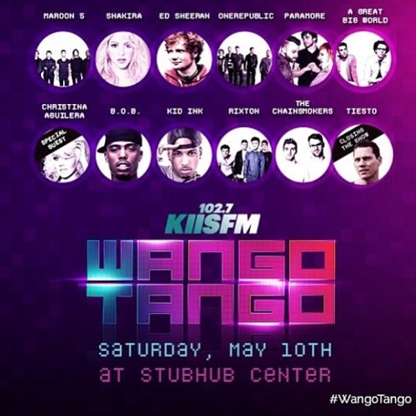 Tiesto 2014-05-10 102.7 KIIS FM's WangoTango Banner