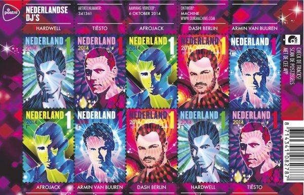 Nederland DJ stamp