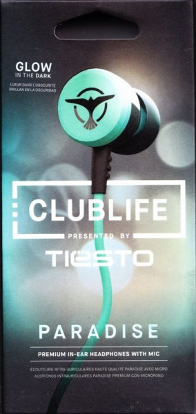 Club Life by Tiesto In-Ear Headphones (2014) Paradise Aqua Front