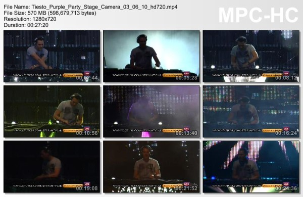 Tiesto 2010-06-03 Purple Party (Chisinau, MD) Video