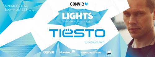 Tiesto 2013-11-30 Lights, Tele2 Arena (Stockholm, SE) Banner