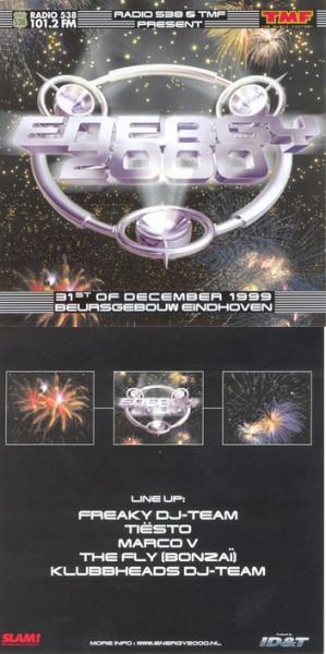 Tiesto 1999-12-31 Energy 2000 (Eindhoven, NL) Flyer