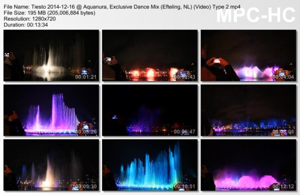Tiesto 2014-12-16 Aquanura, Exclusive Dance Mix (Efteling, NL) Video (2)
