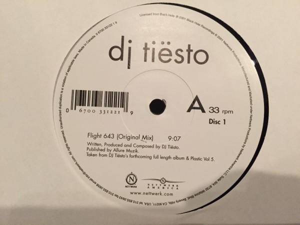 Tiesto - Flight 643 (Nettwerk America) (Vinyl) (3)