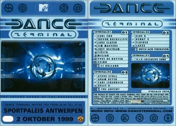 Tiesto 1999-10-02 Dance Terminal (Antwerpen, BE) Flyer
