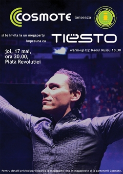 Tiesto 2007-05-17  Revolution Square (Bucharest, RO) Flyer