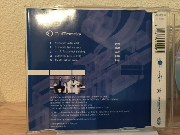 DuMonde - Never Look Back (Incl. Tiesto Remix) (Superstar Recordings) (CDM) 2001 (2)