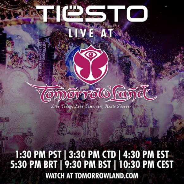 Tiesto 2015-07-26 Tomorrowland 2015, Main Stage (Boom, BE)