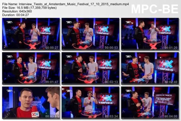 Tiesto 2015-10-17 Amsterdam ArenA (Amsterdam, NL) Interview