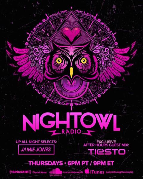Tiesto 2015-11-13 Night Owl Radio 012 Guestmix Flyer