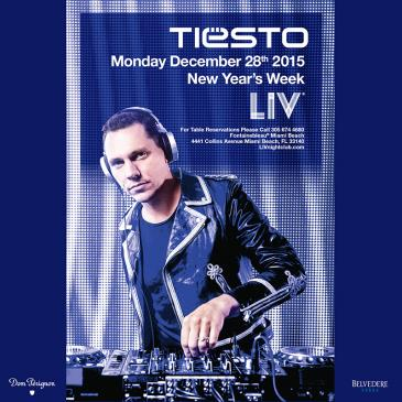 Tiesto 2015-12-28 LIV Club (Miami, US) Flyer