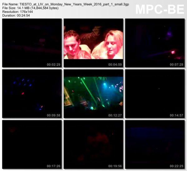 Tiesto 2015-12-28 LIV Club (Miami, US) Video