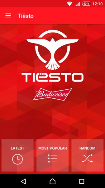 Brand New Tiesto App (iOS & Android) 2016 App View (1)