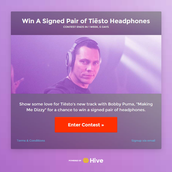 Win A Signed Pair of Tiesto Headphones (2016)