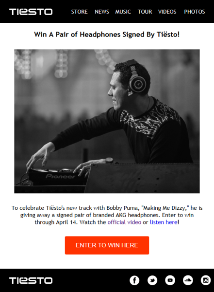 Win A Signed Pair of Tiesto Headphones Mail Magazine (2016)