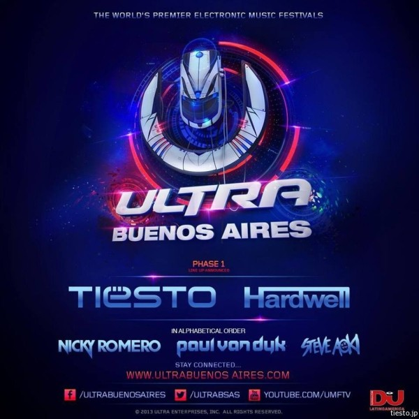Tiesto 2014-02-22 Ultra Buenos Aires (Buenos Aires, AG) Flyer