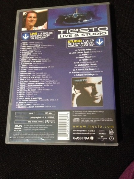 Tiesto - Live & Studio (Independance Records) (DVD) 2004 (2)