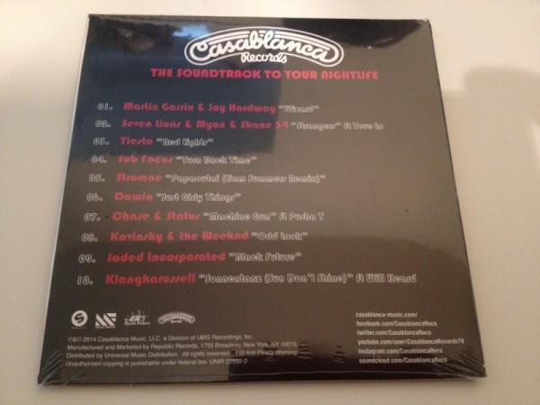 Casablanca Records 2014 Record Store Day Sampler CD (Incl. Tiesto - Red Lights) (2014) Back