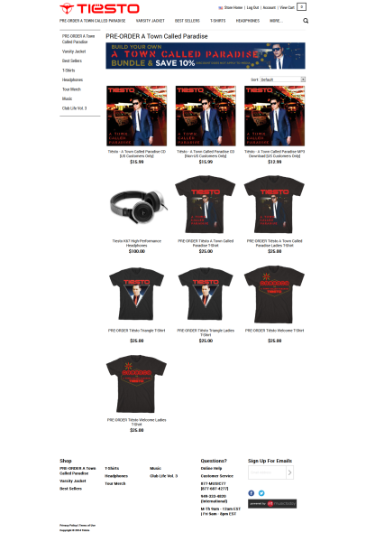 Tiesto A Town Called Paradise (Shop the Tiesto Official Store) (PRE-ORDER)