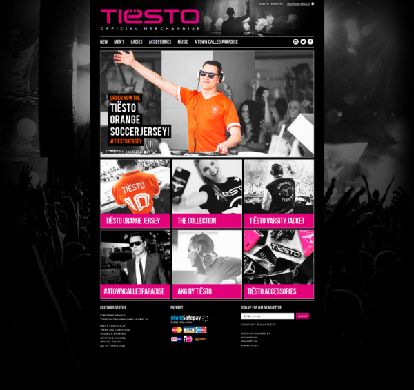 Tiesto 2014-06-06 New Merchandise Shop (www.tiestoshop.com) (2014) Home Page