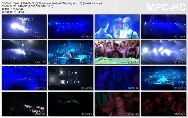 Tiesto 2014-06-26 Thank You Festival (Washington, US) Video