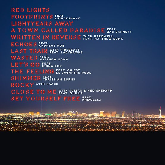 Tiesto - A Town Called Paradise (Pre-Order) (2014) (Back)