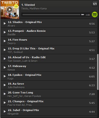Tiesto's Summer Playlist (Incl. Wasted feat. Matthew Koma) (2014) 12-22