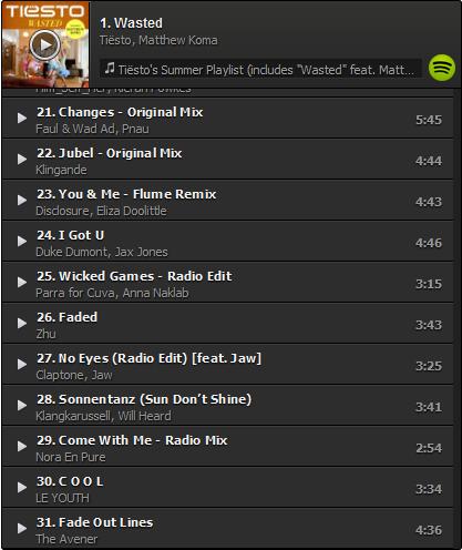 Tiesto's Summer Playlist (Incl. Wasted feat. Matthew Koma) (2014) 21-31