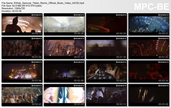 R3hab - Samurai (Tiesto Remix) (WEB) (2014) Video