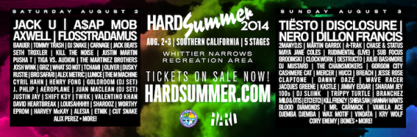 Tiesto 2014-08-03 Hard Summer Festival (South El Monte, US) Flyer