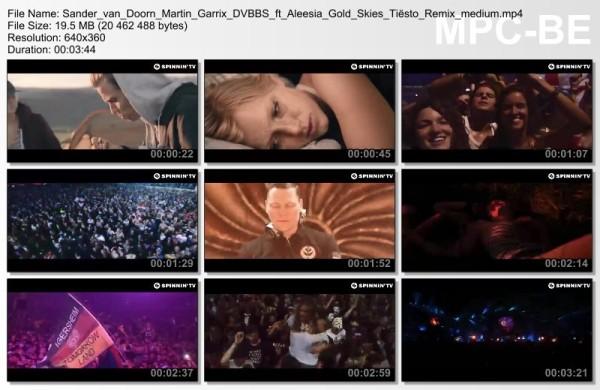 Sander van Doorn, Martin Garrix, DVBBS feat. Aleesia - Gold Skies (Tiesto Remix) (Official Music Video) (2014) Video