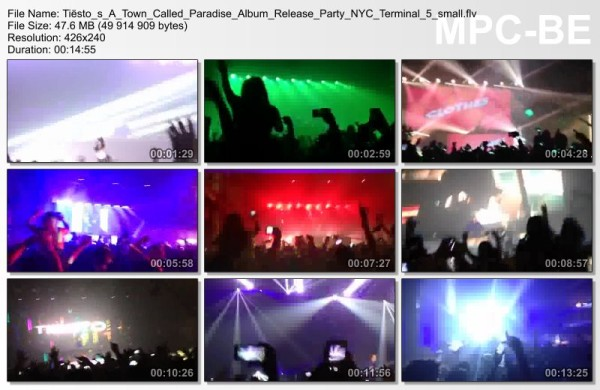 Tiesto's A Town Called Paradise Album Release Party NYCTerminal 5 Video
