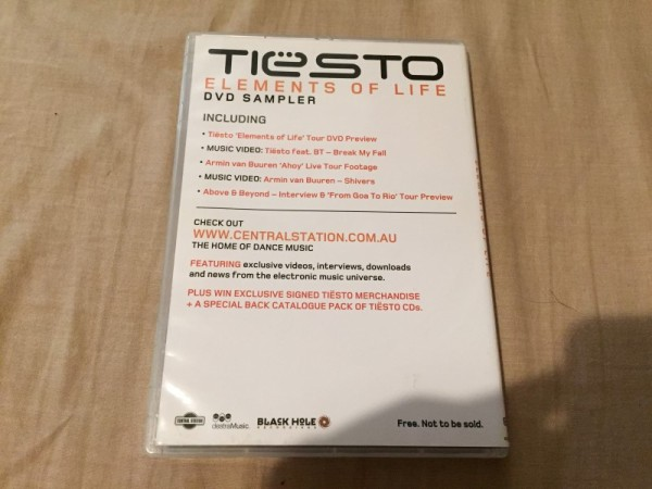 Tiesto - Elements Of Life DVD Sampler (4)