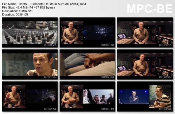 Tiesto -  Elements Of Life in Auro 3D (2014) (Video)
