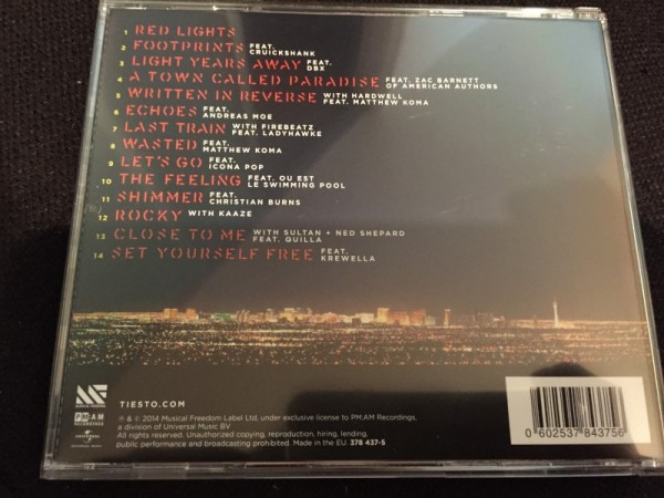 Tiesto - A Town Called Paradise (Signed CD) 2014 (3)