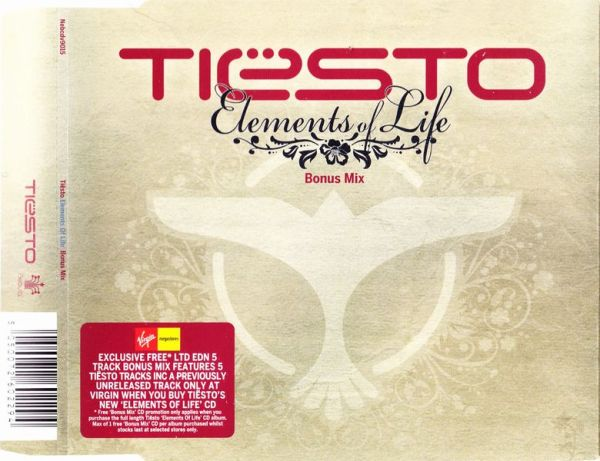 Tiesto - Elements Of Life (Bonus Mix) (Limited CDS) (2007) Front