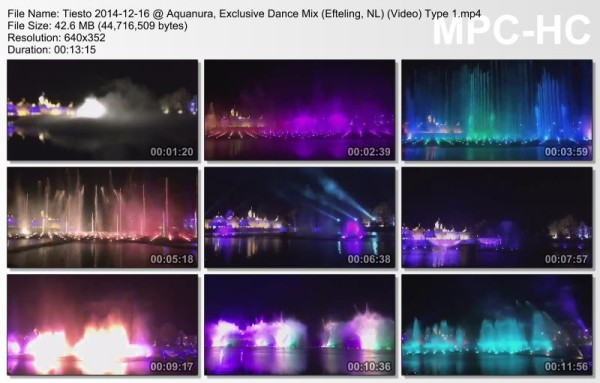 Tiesto 2014-12-16 Aquanura, Exclusive Dance Mix (Efteling, NL) Video (3)