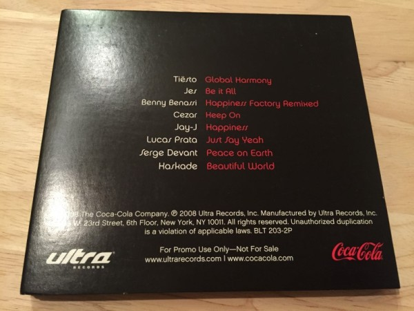 Coca-Cola WE8 (Incl. Global Harmony) (Ultra Records) (Promo CD) (2)