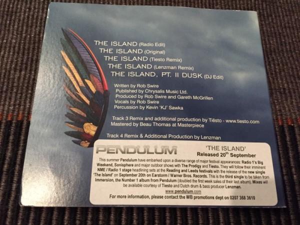 Pendulum - The Island (Incl. Tiesto Remix) (Promo CDR) (Warner Music UK) 2010 (3)