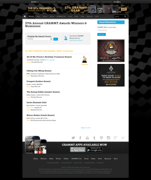 Tiesto GRAMMY.com  The Official Site of Music's Biggest Night