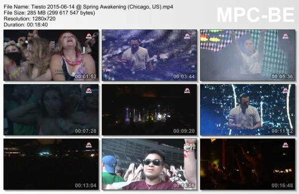 Tiesto 2015-06-14 Spring Awakening (Chicago, US) Video