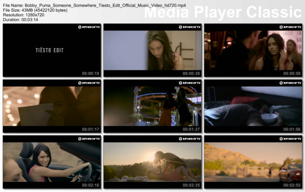 Bobby Puma feat. Nathalie Major - Someone Somewhere (Tiesto Edit) (Official Music Video) (2015) Video
