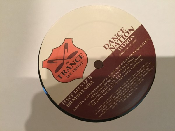 Dance Nation - Words (In Trance We Trust) (Vinyl) 2002 (4)