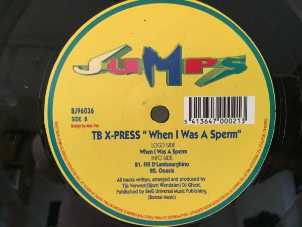 TB X-Press - When I Was A Sperm (Bonzai Jumps) (Vinyl) 1996 (4)