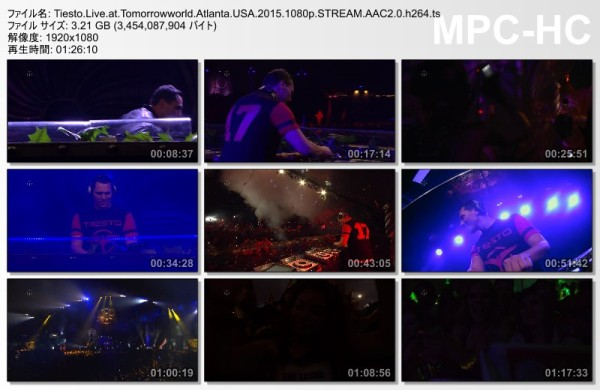 Tiesto 2015-09-25 Tomorrow World (Atlanta, US) Video