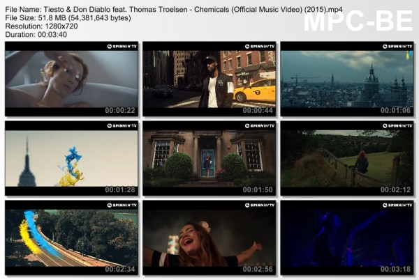 Tiesto & Don Diablo feat. Thomas Troelsen - Chemicals (Official Music Video) (2015) Video