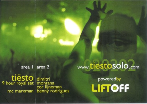 Tiesto 2002-02-02 Dutch Dimension, HMH (Amsterdam, NL) Flyer