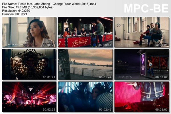 Tiesto feat. Jane Zhang - Change Your World (2015) Video