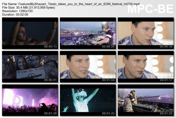 Shazam Exclusive the heart of EDM with Tiesto (2015) Video